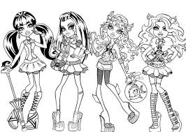 Small Picture Fashion Show in Monster High Coloring Page Color Luna