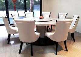 delightful incredible round dining tables for 8 marble top round dining table and chairs with sliding
