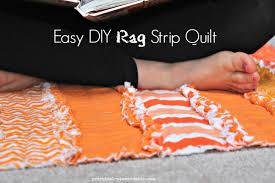 Easy DIY Rag Strip Quilt - Practical Stewardship &  Adamdwight.com