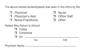 Kaiser Doctors Excuse Note Doctors Note Template Inspirational Return To Work Kaiser
