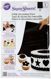 black fondant sheets amazon com wilton sugar sheet black dessert decorating sprinkles