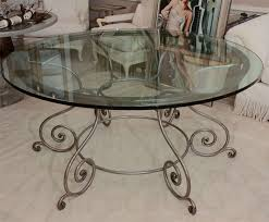 stunning iron glass coffee table 44 round top dining with attractive wrought base 2 end furniture