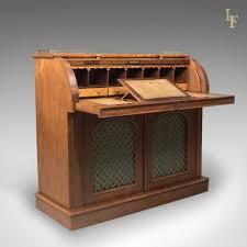 victorian office furniture. Antique Cylinder Bureau Writing Desk, Victorian, English, Mahogany C.1850 - London Victorian Office Furniture