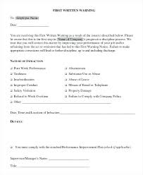 Employee Performance Letter Sample Warning Letter Template Employee First For Poor Performance