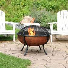Steel With High Temperature Paint Finish Round Wood Burning Pit 23 Inch Sunnydaze Outdoor Replacement Fire Bowl For Diy Or Existing Fire Pits Fire Pits Outdoor Fireplaces Outdoor Heating