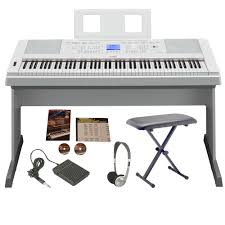 yamaha digital piano. yamaha dgx660 digital piano | white big bundle