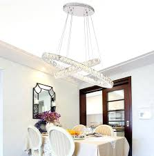 dining room crystal chandeliers new modern oval circles led crystal chandelier for dining room dining table dining room crystal chandeliers