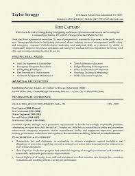 Firefighter Resume Template Beauteous Sample Fire Chief Resume Templates Firefighter Resume Fire Chief