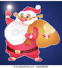 Smiling Santa Claus Christmas Card Template With Snow Christmas Trees And Lettering Vector Illustration