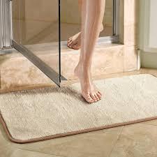 Luxury Bathroom Rugs Violet Linen Microfiber Absorbing Bath Mat Bathroom Rug Reviews