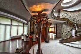 high tech lighting for home. curved stone walls and glass in an ultra-modern home challenge integrator to mingle extreme technology with aesthetics, especially lighting control. high tech for t