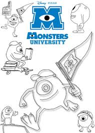 Small Picture Print free colouring sheets with Mike From Monsters University