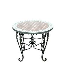 moroccan side table table round coffee table mosaic tile side indoor or outdoor 3 wooden