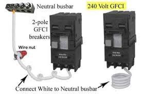 how to install a subpanel how to install main lug neutral wire needed in 240volt subpanel when installing 2 pole gfci breaker 240v gfci has white wire this wire must be connected to neutral busbar wires