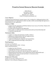 Human Resources Resume Objective Templates Sample Winsome Inspirati