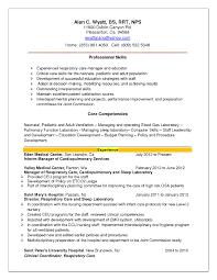 Sample Resume For Respiratory Therapist Example Resume For Speech