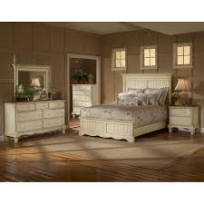 Old Style Bedroom Furniture Wilshire Antique White King Five Piece Panel Bedroom Set Hillsdale