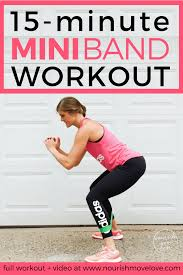 15 minute mini resistance band hiit workout