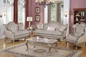 Elegant Traditional Antique Style Sofa Loveseat Formal Living Room