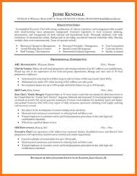 Chef Resume Example Resume Sample Resume Chef Resume Examples