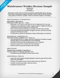 Maintenance Resume Examples Extraordinary Maintenance Worker Resume Sample Companion Resumes 28 Ifest