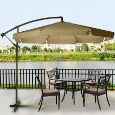 breathtaking brown offset patio umbrella costco design ideas with lights and wood decking for contemporary backyard