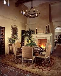 photo sunny luxury home showcase exterior patio cozy and elegant dining room with fireplace