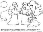 Their ability to differentiate colours normally begins to take shape at 18 months. Abraham Coloring Pages