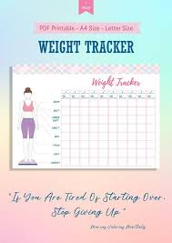 Weight Loss Tracker Printable Weight Loss Body Measurement Chart Template Weight Loss Planner Bullet Journal Weight Loss Progress Tracker