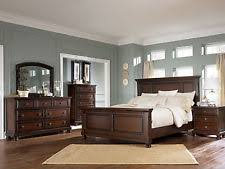 cherry bedroom furniture. Ashley Furniture B697 Porter-traditional Queen King Panel Bed Frame Bedroom Set Cherry Y
