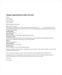 Appointment Letter Template Free Word Documents Ms Templates