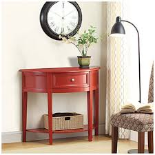 Big Lots Coat Rack want for entrydining room Red SemiCircle Accent Table at Big Lots 2