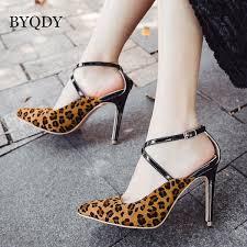 <b>BYQDY</b> Summer <b>Pumps</b> Women <b>Fashion</b> High <b>Heels Shoes</b> T Strap ...