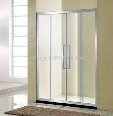 2 fixed 2 movable shower screen sliding glass shower door 8mm