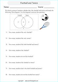 How To Solve Venn Diagram Word Problems Printable Primary Math Worksheet Math Math Worksheets