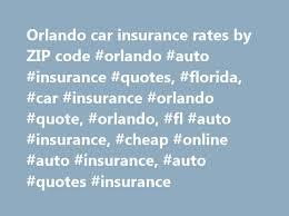 Car Insurance Quotes Florida Adorable Orlando Car Insurance Rates By ZIP Code Orlando Auto Insurance