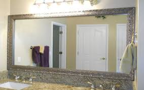 Framing A Large Mirror Bathroom Mirrors Lowes Awesome Inspiration Ideas White Map Of