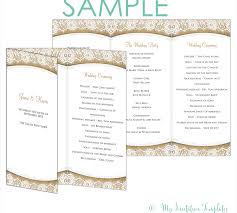 wedding reception program templates free download catholicg program template free awesome sample contemporary styles