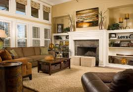 brown baseboards room ideas living room traditional with beige rug white painted wood roman shades