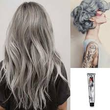 Light Grey Dye Hot 100ml Fashion Permanent Punk Salon Hair Dye Light Gray Color Long Lasting Cream