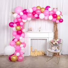 Balloon Designs For Bridal Shower Pink Balloon Arch Garland Kit 102 Pcs 12in 18in Pink Gold Party Balloons With 4pcs Balloon Decorating Kit For Baby Shower Bridal Shower Girl