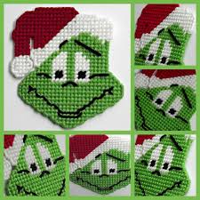 Free Plastic Canvas Christmas Patterns Delectable Plastic Canvas Mr Grinch Holiday Magnet By HomespunCrafting 4848