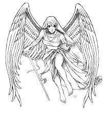 Coloriage Anges Les Beaux Dessins De Personnages Imprimer Et
