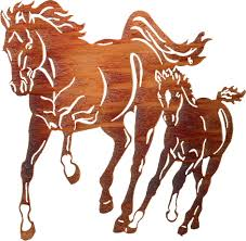 horse wall art and wall hangings of horses home decor