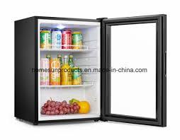 countertop glass door mini refrigerator for drinks and beverage