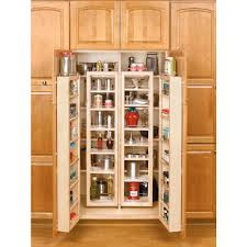 this review is from 57 in h x 12 in w x 7 5 in d wood swing out cabinet pantry kit