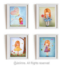 wonderful red head girl art prints set kids wall art children room pertaining to kids wall art attractive  on toddler canvas wall art with wonderful red head girl art prints set kids wall art children room
