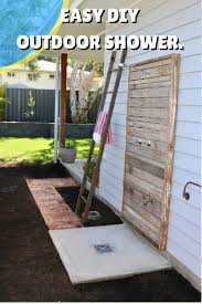 outdoor shower rustic diy outdoor shower idea perfect for the beach house and backyard