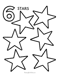 Reading & coloring printables for ages 0 to 2. Number 6 Coloring Page Coloring Home