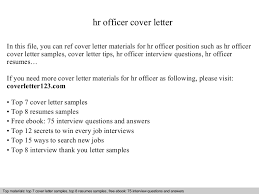Cover Letter For Hr Sample Cover Letter For Hr Officer Job Hr Manager Cover